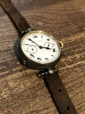 Swiss Made Silver Cased Chronograph WWI TRENCH Wrist Watch by Escasany