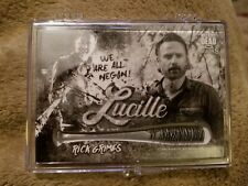 2018 Topps The Walking Dead Season 8 Rick 4/5 Bat Medallion Card