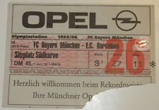 Ticket for collectors EC Bayern Munchen - FC Barcelona 1996 Germany Spain