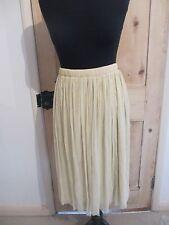 Zara Ladies Net Skirt Gold Shimmer Size Large