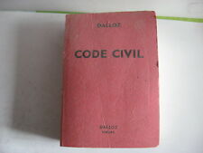 CODE CIVIL DALLOZ 1981-1982 - TBE