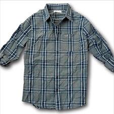 NWT Hollister-Abercrombie&Fitch 100% Cotton Poplin Plaid Shirt Denim red blue