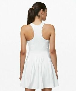 Lululemon BRAND NEW with TAG Most Popular WHITE Court Crush Tennis Dress Size 6