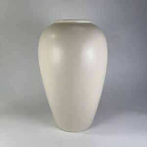 """Vintage Large Haeger Ivory Vase 12"""" Matte Glaze #4304"""