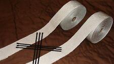 VIBRANT WHITE TITANIUM Exhaust Wrap 50'/80'x 2 Exhaust/Header Wrap 8 Ties Wrap