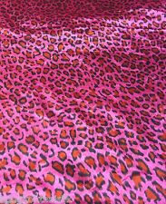 "HOT PINK & RED ANIMAL PRINT SMOOTH SATIN FABRIC 60""W for SCARF DRAPE DRESS BTY"