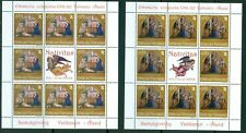 2013 Vatican City Sc# 1549-50: Christmas 2013 MNH sheet of 8 + label