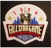 NHL 1994 ALL STAR GAME JERSEY PATCH NEW YORK RANGERS