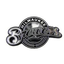 Milwaukee Brewers Plastic Auto Chrome Team Emblem W/Adhesive Tape