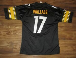 NFL Pittsburgh Steelers Mike Wallace Boys Jersey, Sewn-On, Size L (14-16), EUC