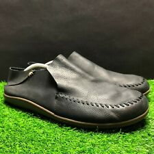 OLUKAI Mens Gray Leather Casual Slip On Shoes Size 12