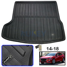 For Mazda 3 Sedan 2014-2018 Rear Trunk Tray Boot Cargo Mat Liner Floor Carpet