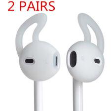 2 Pair In Ear Rubber Earbud Cover Case w Ear Hook for iPhone Earphone Headset US