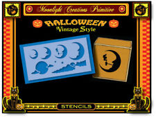 Stencil-Vintage~6 ACCESSORY HALLOWEEN MOONS~Enchanting Mystical Looking Moons