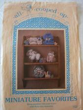 1988 Miniature Favorites Craft Sewing Pattern NEW Bunny Lamb Cat Dog Bear #102