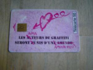 telecarte graffiti naf naf GEM 09/95 50 unités
