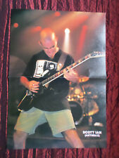 "SCOTT IAN   ( ANTHRAX ) "" PULL-OUT MAGAZINE CENTRE PAGE PICTURE"" - ROCK MUSIC"