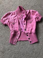 Papaya Pink short sleeved jacket size small