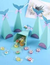 10pcs Mermaid Tail DIY Sweet Cone Kit Birthday Party Favour Bags Candy Boxes