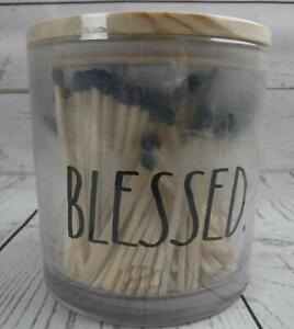 Rae Dunn Jar with Wood Matches Blessed Jar w/250 Matches with Strike Paper