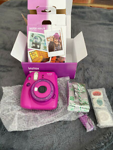 instax mini 9 - new in box with filters, wrist strap and film