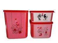 Tupperware Disney Mickey Mouse Minnie Micky Maus Cubix 3-tlg. 650ml + 1l + 1,8 l