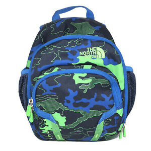 The North Face Mini Backpack Sprout Blue Green Camouflage Toddler Kids