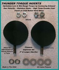 """DK Custom Products Thunder Torque Inserts 258W motorcycle exhaust inserts 2 5/8"""""""