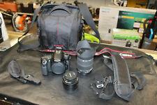 Canon EOS 70D 20.2MP Digital SLR Camera - Black w 2 Lens No Reserve