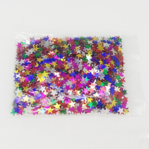 Confetti Stars 5mm Gold Green Blue Red Silver Wedding Party Table Decorations 10