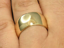 R042- Genuine Solid 9K, 14K or 18K Gold 10mm WIDE Wedding Band Ring size 5 to 11