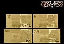 Gulden Gold Banknote Set Niederlande Holland Geldschein Schein Note Goldfolie