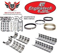 ENGINETECH CHEVY BBC 454 RE RING REBUILD KIT WITH MAIN BEARINGS 1991 - 1995