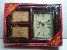 "Vintage Forever Beautiful 2 in 1 Quartz Clock & Picture Frame 4"" x 6"" **NEW **"