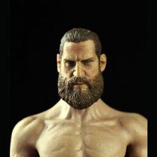 "CMTOYS 1/6 Skin Color Rubber Layer Muscular Body Head Sculpt For 12"" Male Figure"