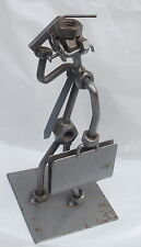 Handmade Abstract Gentleman with Suitcase/Glasses made with Metal by Merkon