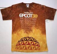 Disney World Epcot Center 30th Anniversary Tie Dye T Shirt Medium Rare Retro