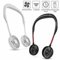 Wearable Portable Mini Hand Free Fan Personal Neckband Fan USB Rechargeable