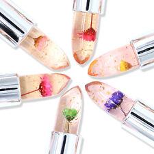 Transparent Color Jelly Flower Lipstick Temperature Change Magic Changing Lip