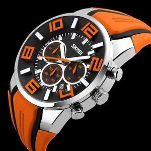 Luxury Men's Date Chronograph Waterproof Quartz Military Army Sports Wrist Watch