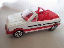 Majorette Peugoet 205 CTI Convertible Car #231 /210 France (1:53 White) Mint