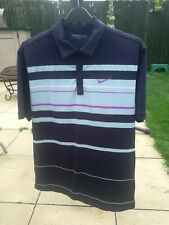 NIKE DRI FIT GOLF MENS SHORT SLEEVE POLO SHIRT TOP Black Navy Size Med