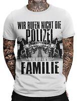 Wir rufen nicht die Polizei Wir rufen die Familie Biker Herren T-Shirt MC Outlaw