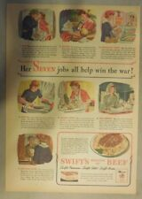 Swift and Company Ad: Swift's Premium Beef from 1940's Size: 11 x 15 inches