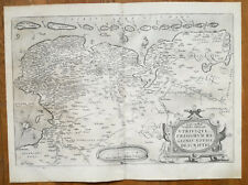 ORTELIUS Original Map Frisia Frisiorum Regionis Netherlands Germany - 1573