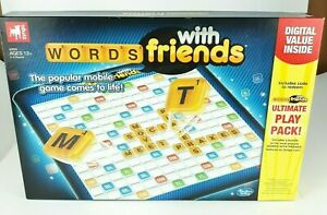 Words With Friends Board Game by Zynga Hasbro Gaming Family Fun