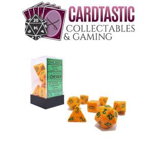 Lotus Speckled Polyhedral 7-Die Set Chessex CHX25312