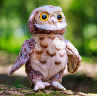 ANIMIGOS WORLD OF NATURE 27 cm TAWNY OWL - 37259 PLUSH SOFT TOY TEDDY CUTE