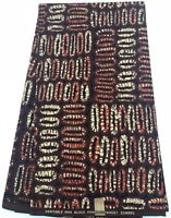 Brown Color Print- African Prints 6 Yards/Ankara Print/African Fabric/Wax Print