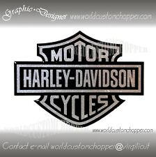 2 ADESIVI DECAL STICKERS BAR AND SHIELD RESINATI 3D METAL FLAKE HARLEY DAVIDSON
